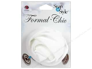 CousN Snap N Style Snap Formal Rosette White