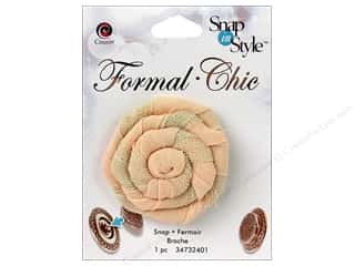 CousN Snap N Style Snap Formal Rosette Peach