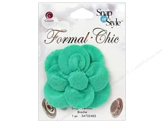 CousN Snap N Style Snap Formal Teal Flower
