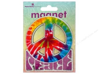 Gifts & Giftwrap paper dimensions: Paper House Magnet 3D Peace Sign