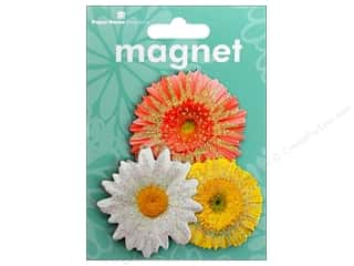 Magnets Flowers: Paper House Magnet 3D Daisies