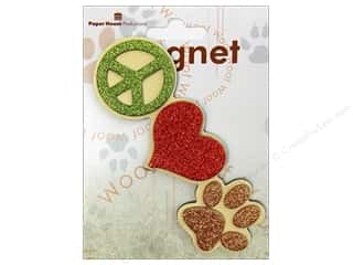 Paper House Magnet 3D Peace Love Paw