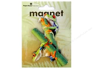 Paper House Magnet 3D Red Eyed Tree Frogs