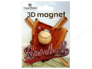 Gifts & Giftwrap Sports: Paper House Magnet 3D Baseball