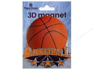 Gifts & Giftwrap Sports: Paper House Magnet 3D Basketball
