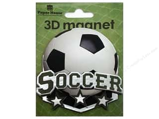Magnets Sports: Paper House Magnet 3D Soccer
