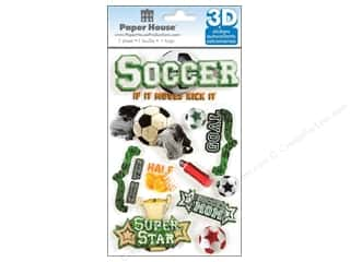 Paper House Sticker 3D Soccer