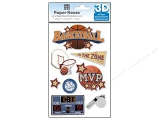 Metal Sports: Paper House Sticker 3D Basketball