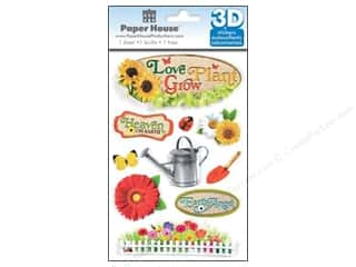Paper House Sticker 3D Gardening