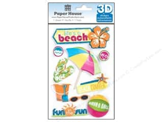 Paper House Sticker 3D Life&#39;s A Beach