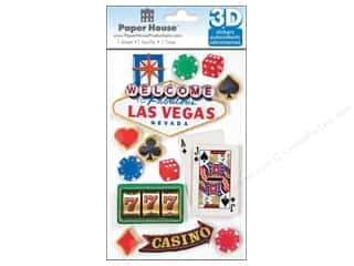 Paper House Sticker 3D Las Vegas