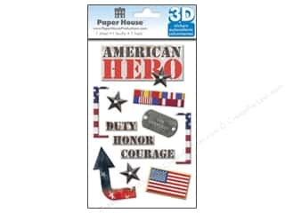 Paper House Sticker 3D American Hero