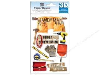 Paper House Sticker 3D Handyman