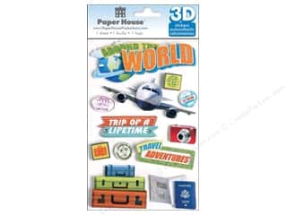 Paper House Sticker 3D World Travel
