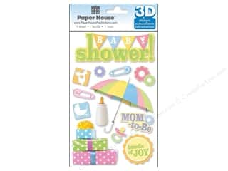 Pins Baby: Paper House Sticker 3D Baby Shower