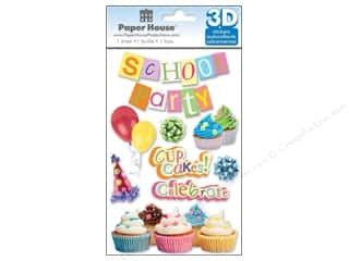 Back To School Clearance Crafts: Paper House Sticker 3D School Party