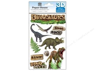 Paper House Animals: Paper House Sticker 3D Dinosaurs