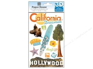Paper House Sticker 3D California