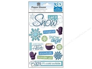 Paper House Sticker 3D Let It Snow