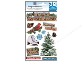 Winter Wonderland: Paper House Sticker 3D Winter Wonderland