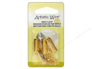 Artistic Wire Clasp Mesh 18mm Gold Color 2pc