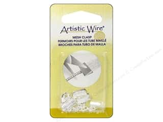Clasps: Artistic Wire Mesh Clasp 3/8 in. 2 pc. Silver Plated