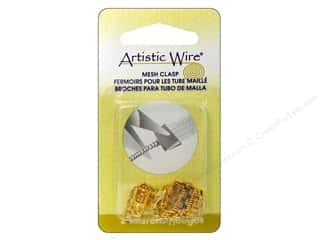 Artistic Wire Clasp Mesh 10mm Gold Color 2pc