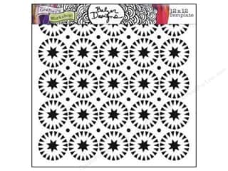 The Crafter's Workshop Template 12 x 12 in. Stars Circles
