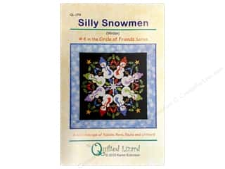 Straight Stitch Quilting Patterns: Quilted Lizard Circle Of Friends Silly Snowmen Pattern