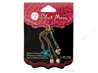 Hearts Licensed Products: Blue Moon Beads Metal & Enamel Charms Peggy Sue Dangle Star 1 pc. Gold