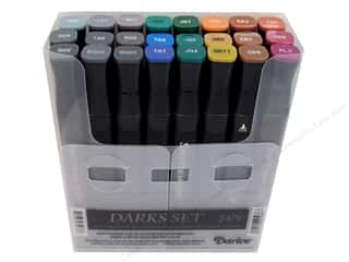 Crafter's Companion Spectrum Noir Pen: Crafter's Companion Spectrum Noir Pen Set Darks 24pc