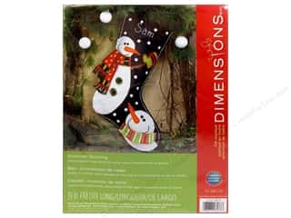 Dimensions Applique Kit Felt Snowmen Stocking