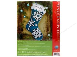 felting kits: Dimensions Applique Kit Felt Flurries Stocking