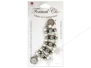 Cousin Corporation of America: Cousin Make the Connection Connector Center Formal-Chic Pearl Rhinestone