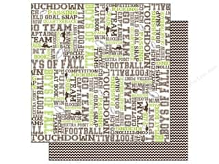Scrappin Sports Paper 12x12 Activities Football (25 piece)