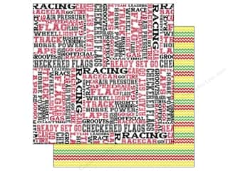 "Zig Clearance Patterns: Scrappin Sports Paper 12""x 12"" Activities Racing (25 pieces)"