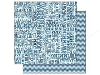 Scrappin Sports Paper 12x12 Activities Swimming (25 piece)