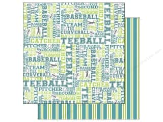 Scrappin Sports Paper 12x12 Activities T Ball (25 piece)