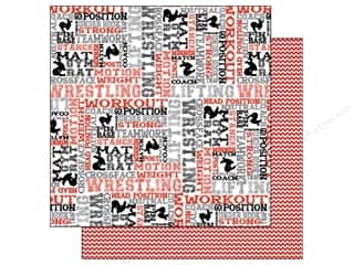 Scrappin Sports Paper 12x12 Activities Wrestling (25 piece)
