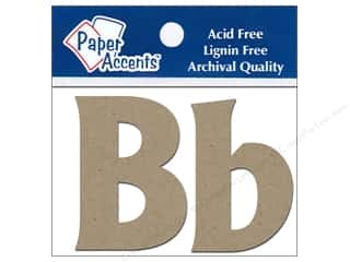 "Paper Accents Chip Shape Letters 2"" Bb 2pc Natural"