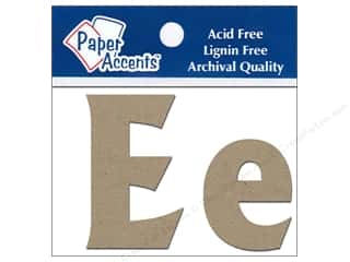 "iron-on upper and lower case letters: Paper Accents Chip Shape Letters 2"" Ee 2pc Nat"