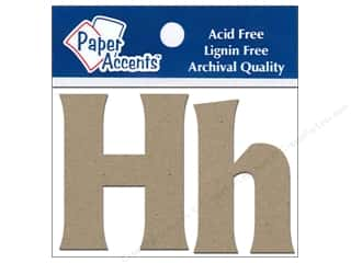 "iron-on upper and lower case letters: Paper Accents Chip Shape Letters 2"" Hh 2pc Nat"