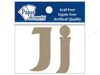 "Paper Accents Chip Shape Letters 2"" Jj 2pc Natural"