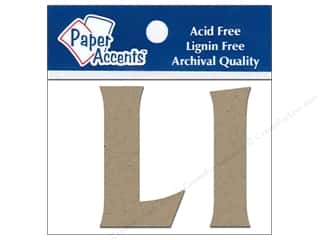 "iron-on upper and lower case letters: Paper Accents Chip Shape Letters 2"" Ll 2pc Nat"