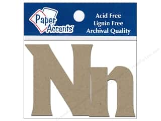 "iron-on upper and lower case letters: Paper Accents Chip Shape Letters 2"" Nn 2pc Nat"