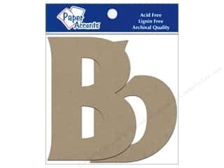 Paper Accents Chip Shape Letters 4&quot; Bb 2pc Nat