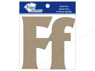 "Paper Accents Chip Shape Letters 4"" Ff 2pc Nat"