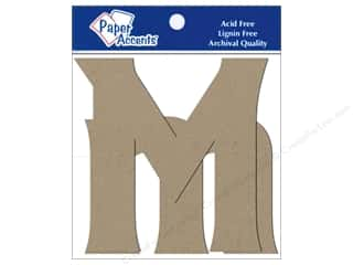 "Paper Accents Chip Shape Letters 4"" Mm 2pc Nat"