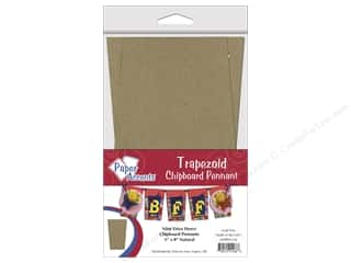 Chipboard Pennants 5 x 8 in. Trapezoid 9 pc. Kraft