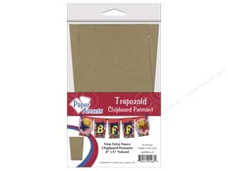 "Paper Accents Chipboard Pennants Trapezoid 4""x 6"" 9pc Natural"